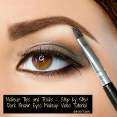 Makeup Tips and Tricks – Step by Step Dark Brown Eyes Makeup Tutorial Video - DIY