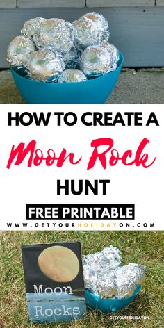 Rock Hunt With A Free Printable DIY How To Make Moon Rock Prizes! Perfect for an outer space birthday party idea, party game, or party favor!DIY How To Make Moon Rock Prizes! Perfect for an outer space birthday party idea, party game, or party favor! Space Activities For Kids, Space Preschool, Outer Space Crafts For Kids, Space Kids, Outer Space Theme, Outer Space Party, Kids Party Games, Party Activities, Science Activities