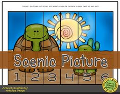 Habitats | Desert Animals: Scenic Picture Cut and Paste Activities for Preschool. #cutandpaste #preschool #playtimefelts #prek #storytime #preschoolprintables #activitiesforkids #iteach