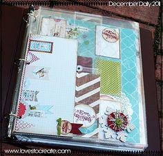 This is a hybrid album using many items from Christmas Junque Line from Rhonna Designs