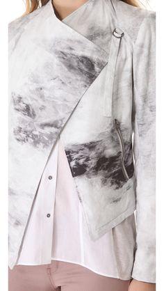 HELMUT Helmut Lang Smudge Print Poplin Jacket   SHOPBOP