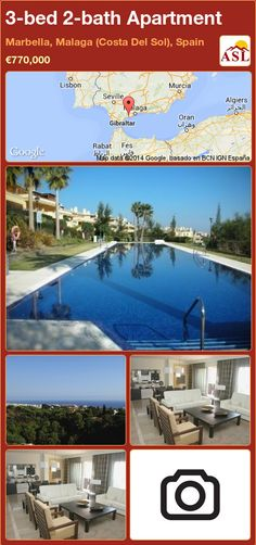3-bed 2-bath Apartment in Marbella, Malaga (Costa Del Sol), Spain ►€770,000 #PropertyForSaleInSpain