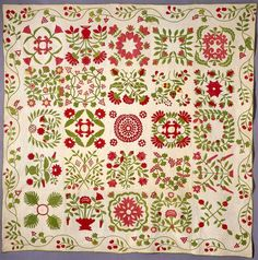 This is the next Baltimore Album quilt I want to make based on Mary Mannakee quilt 1850