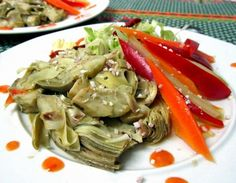 Receta de Alcachofas con verduras - 8 pasos