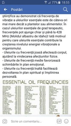 Essential oil frequency