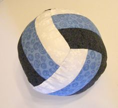 """with """"VUWP"""" on it!  Volleyball or Water Polo Pillow PDF Pattern DIY home decor. $6.00, via Etsy."""