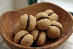 Italian Baci di Dama cookie recipe, made with hazelnuts & chocolate - and gluten-free, too!