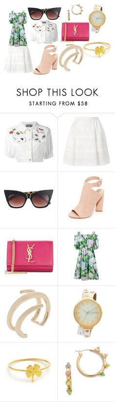 """""""In vogue"""" by emmamegan-5678 ❤ liked on Polyvore featuring Moschino, RED Valentino, Pared, Kendall + Kylie, Yves Saint Laurent, Dolce&Gabbana, Jennifer Fisher, RumbaTime, Jennifer Meyer Jewelry and Rebecca Minkoff"""