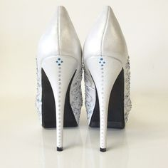 Hand Made A Girl's Best Friend Hand-Painted Wedding Shoes. by Hourglass Footwear | CustomMade.com
