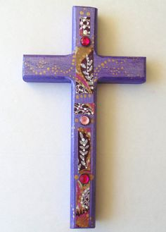 Decorative Wall cross Ornate Cross by DulcetWhimsy on Etsy