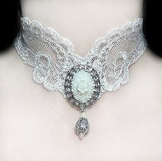 dark victorian | Gothic Victorian Rock Jewelry by Vamp Chokers Necklaces Earrings