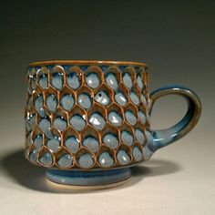 Lyon Clay Studio Honeycomb with Tall Foot Mug