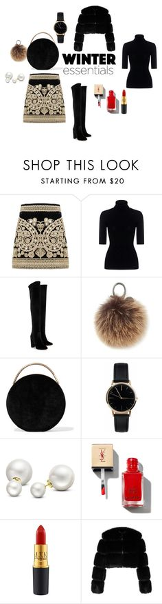 """Winter Essential"" by danielle-vida on Polyvore featuring moda, For Love & Lemons, Marissa Webb, Aquazzura, Rebecca Minkoff, Eddie Borgo, Freedom To Exist, Allurez e Givenchy"