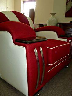 Art Deco Style Lounge/Sofa/Settee and Chair Custom Designed website www.decofurniture... follow us on facebook www.facebook.com/....