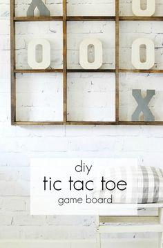 DIY Tac Tac Toe Game Board