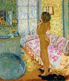 The Dressing Room with Pink Sofa (Female Nude in Backlight)