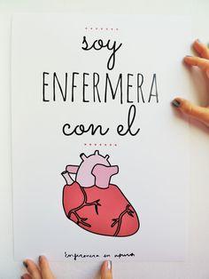 """Lámina """"Soy enfermera con el corazón"""""""