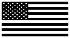 'American Flag - Black and White Version' Sticker by warishellstore Black American Flag, American Flag Stars, Flag Template, Stencil Templates, American Flag Wallpaper, Black And White Flag, Patriotic Tattoos, Flag Art, Tattoo Script