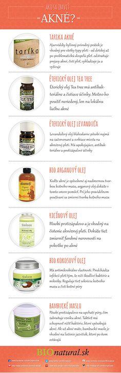 Akné 2. Ako sa zbaviť akné [Infografika] Natural Solutions, Tea Tree, Masky, Wellness, Health, Nature, How To Make, Blog, Women