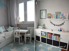 Baby Boy Rooms, Baby Room, Study Space, Kids Bedroom, Corner Desk, Ikea, House, Furniture, Home Decor