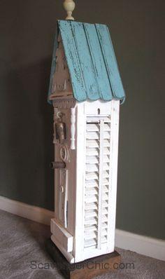 Interior Shutters, Wood Shutters, Repurposed Shutters, Shutter Projects, Diy Projects, Shutter Decor, Bird House Kits, Bird Houses Diy, Wood Cutouts