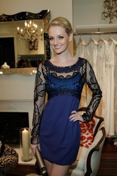 Lydia Hearst wearing the Sleeved Cocktail Dress from the Autumn Winter 2011 collection, at the Temperley True British book signing in LA.