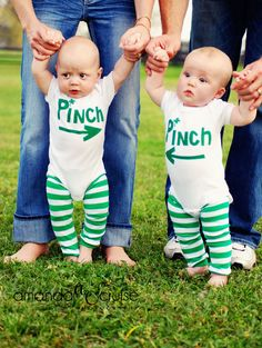 St. Patrick's outfits for twins....I'm doing this with mine!