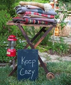 Creative Backyard Wedding Decorations   HappyWedd.com - This idea is for a wedding, but I also think it'd be a great idea when you are hosting a get together and plan on having a bonfire ... really looking forward to having a firepit someday soon and trying this idea!