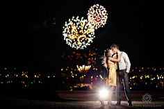 CLICK THIS PIN to see more night time engagement photos. Night engagement Barrie, Ontario Best Engagement Fireworks