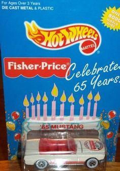NIB Hot Wheels Fisher Price 65th Birthday '65 Mustang 1/64 scale LOT 8e