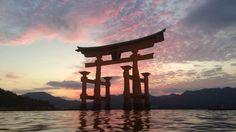The Great Torii at low tide (Miyajima Island Japan) [OC]