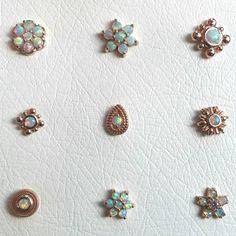 Brain Drops - white opal