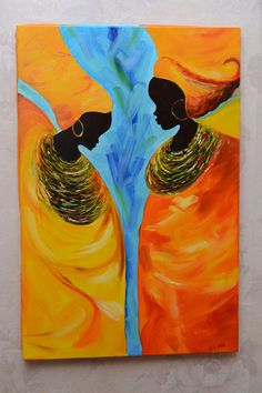 African Women. Oil painting 16x24 40x60 cm African by RanishaArt