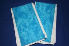 Blue Tie Dye Baby Burp Cloths by Gammysshop on Etsy