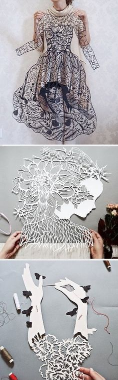 Papercut art by Eugenia Zoloto / More on the blog!