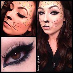 Cheetah makeup for Halloween at Sephora #makeupbynik
