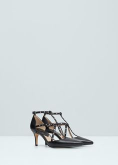 High heel shoes with ankle straps | MANGO