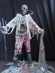 """Catch of the Day"" - HauntForum Pirate Halloween Party, Halloween 2020, Halloween Skeletons, Halloween Party Decor, Spooky Halloween, Holidays Halloween, Halloween Themes, Pirate Theme, Pirate Skeleton"