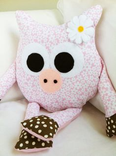 Toy Sewing Pattern  Pig Pillow  PDF by GandGPatterns on Etsy, $8.00  Owl pig