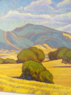 """""""Diablo Summer"""" by Tom Taneyhill, size Steve Thomas, England Map, Photo Reference, San Luis Obispo, Large Art, Natural Beauty, Landscapes, Art Gallery, Trees"""