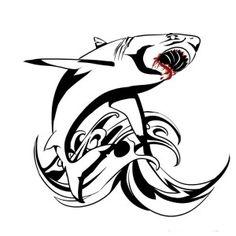 Эскизы тату акула | ТриТатушки