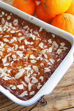 Μανταρινόπιτα Σιροπιαστή Greek Desserts, Greek Recipes, Syrup Cake, Chocolate Cake, Recipies, Deserts, Dessert Recipes, Sweets, Baking