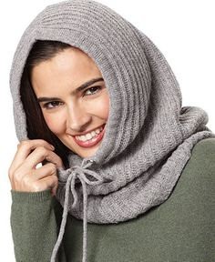 Michael Kors Hat, Hooded Wool neck warmer, great for hijab