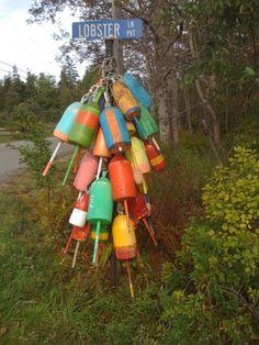 lobster buoys Owls Head Maine
