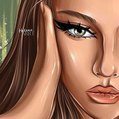 Cartoon Girl Images, Girl Cartoon, Cartoon Art, Pop Art Drawing, Girl Drawing Sketches, Drawings, Digital Portrait, Portrait Art, Beautiful Girl Drawing