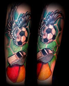 tattoo football soccer ball