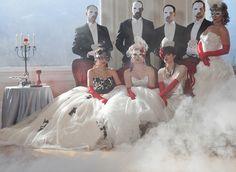 Phantom of the Opera masquerade ball wedding