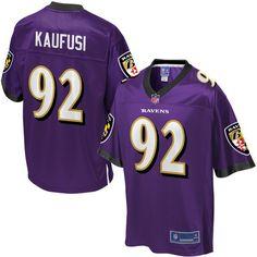 2b94299ef nfl jerseys best selling Bronson Kaufusi Baltimore Ravens NFL Pro Line  Youth Player Jersey - Purple