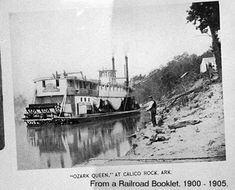 """The Ozark Queen, Calico Rock, Arkansas. Similar in size to Rory's packet, """"Dark Enchantress,"""" and the town is the same one I visited while researching for the series!"""
