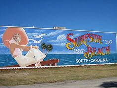 City sign at Surfside Beach, SC!
